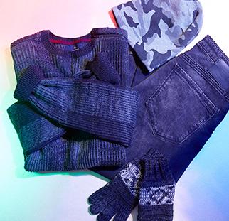 Jacken, Pullover, Schals und Mützen. Alle Winterstyles für ihn bei mavi