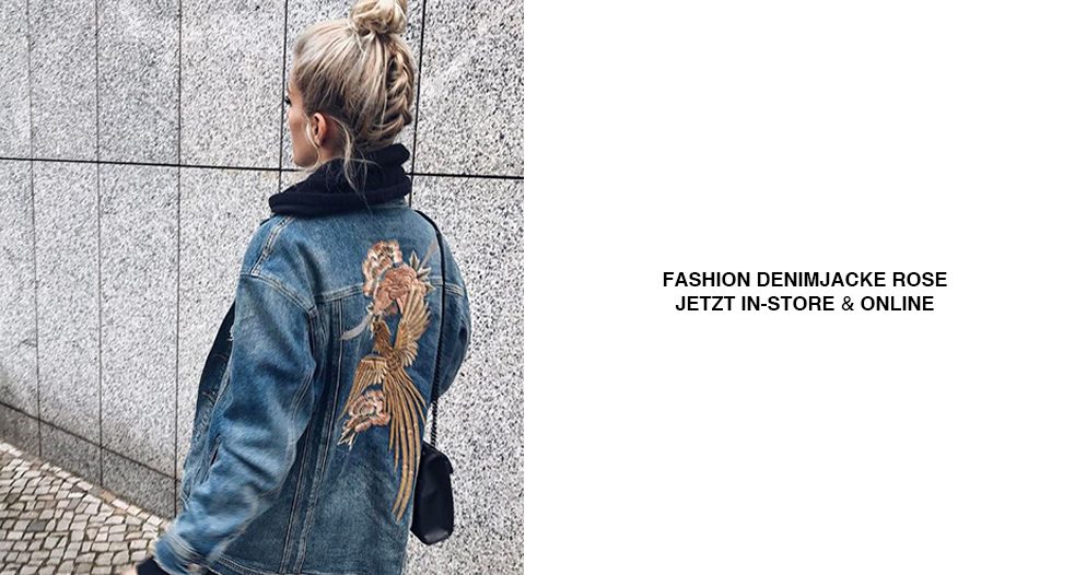 Boyfriend Jeansjacke als Fashion Statement getragen von Marina the Moss