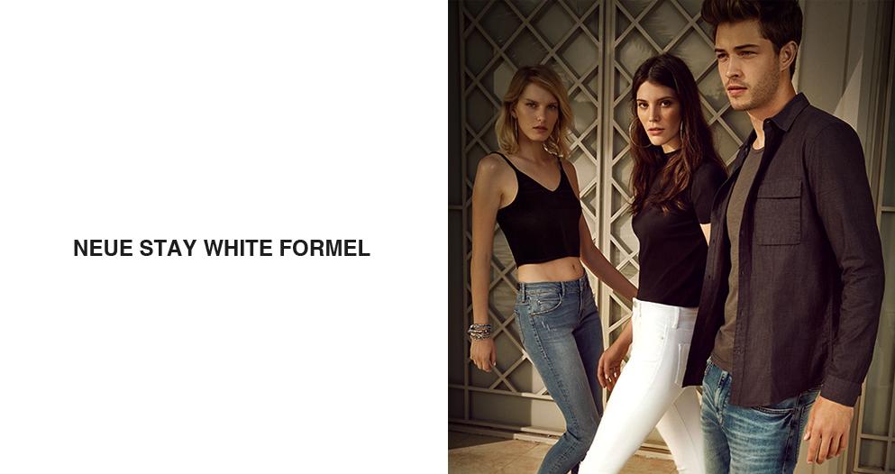 Mavi Weiße Jeans mit Stay White Formel