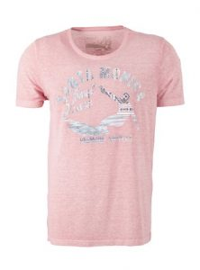 Herrenshirt mit Print in rot