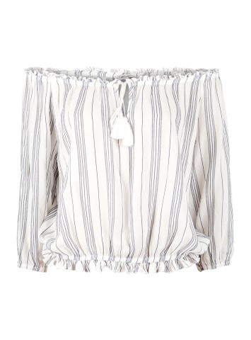 Off-Shoulder Oberteil gestreift