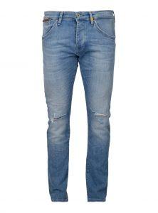 Mavi Herren Skinny Jeans Yves in heller Waschung mit Cut-Outs an beiden Knien