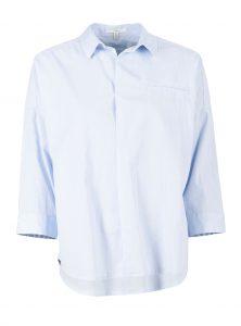 Mavi Uptown hat neue Blusen in hellblau mit Stickereien auf dem Rücken