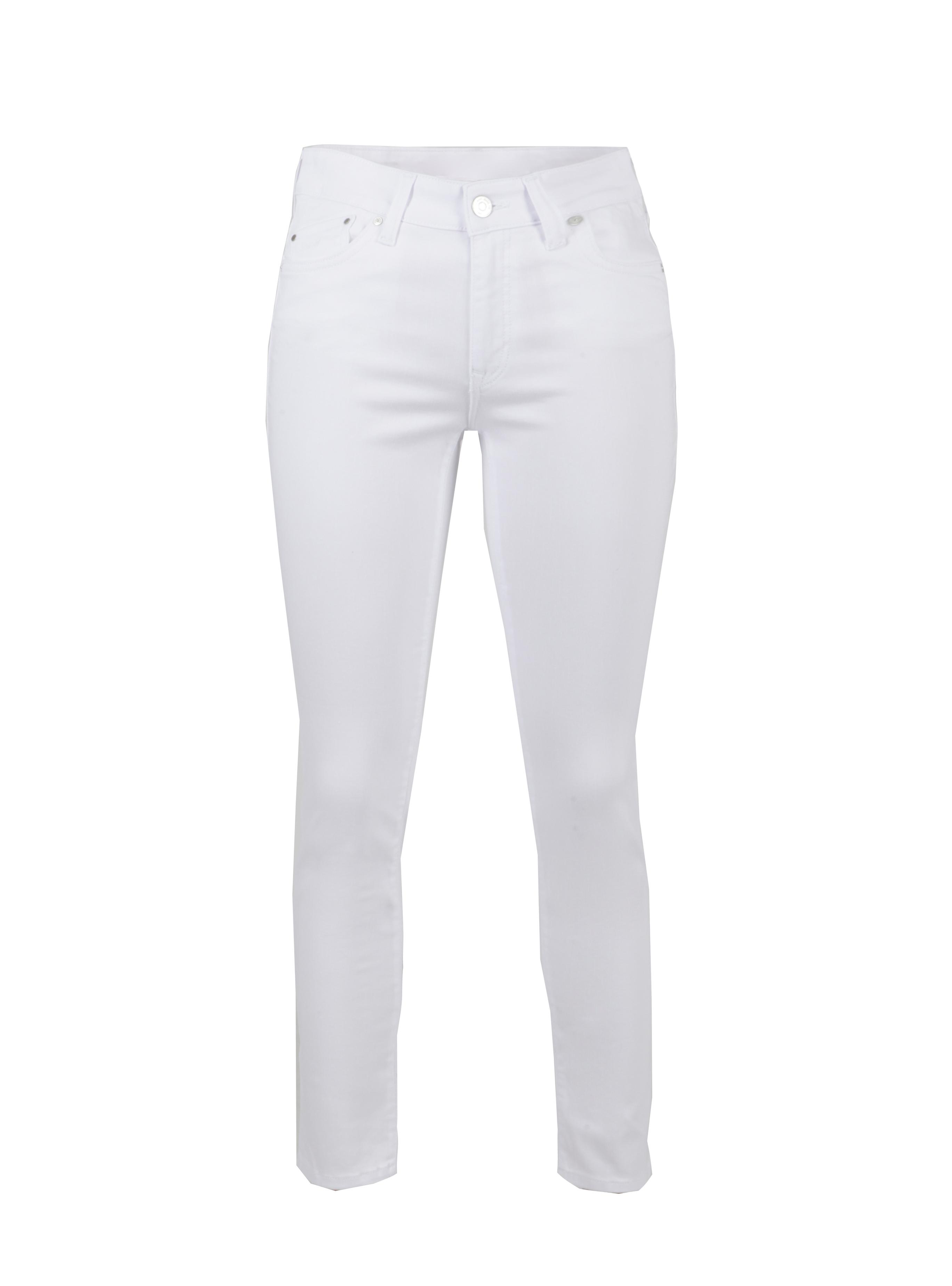 High Waist Skinny Jeans Lucy ist einer weißen Waschung bei Mavi Jeans