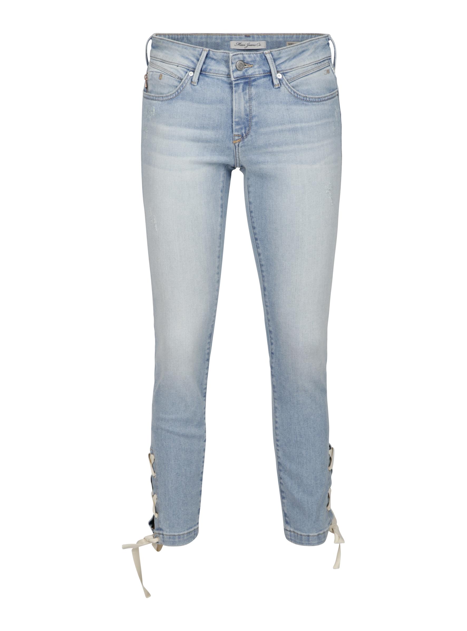 Der Serena Ankle Fit in Super Skinny und Schnürdetails an den Beinen bei Mavi Jeans