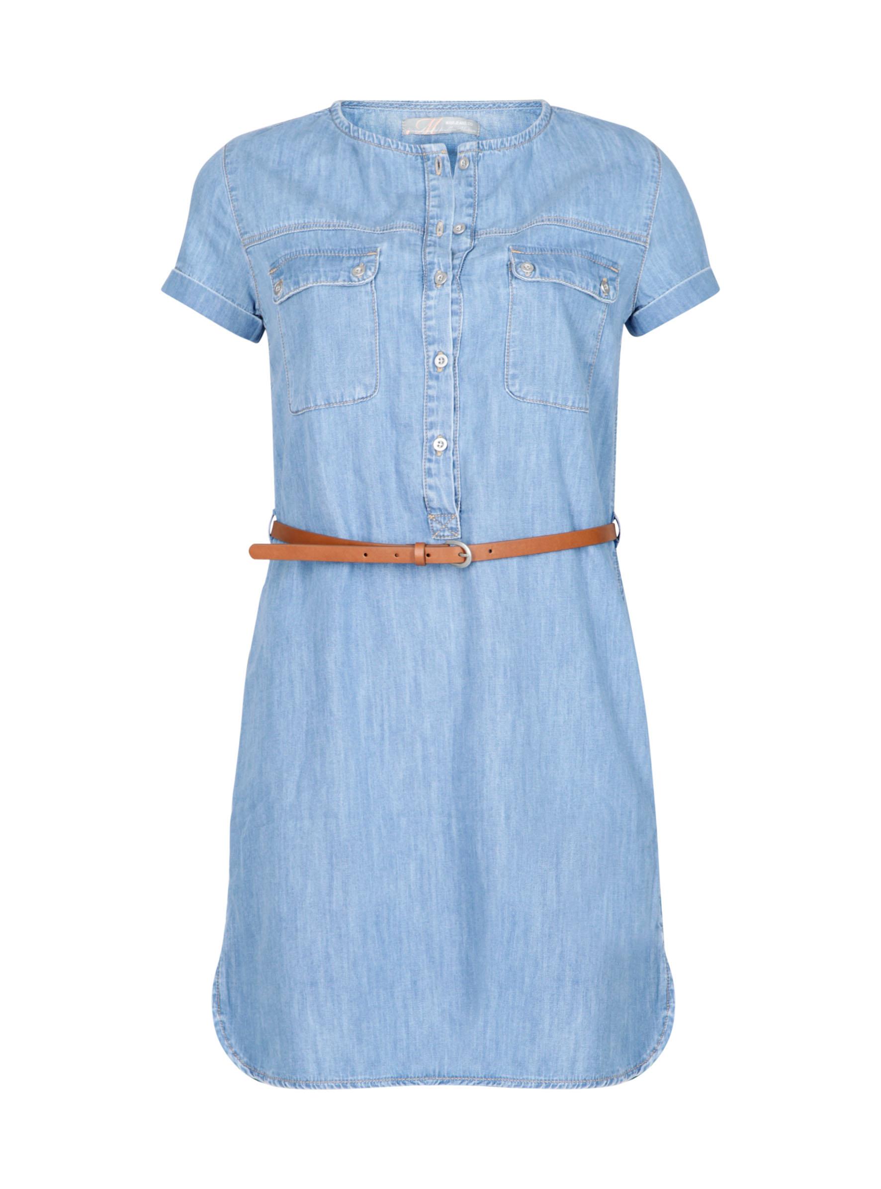 Baumwollkleid in Denim Look in er Mavi Jeans Kollektion