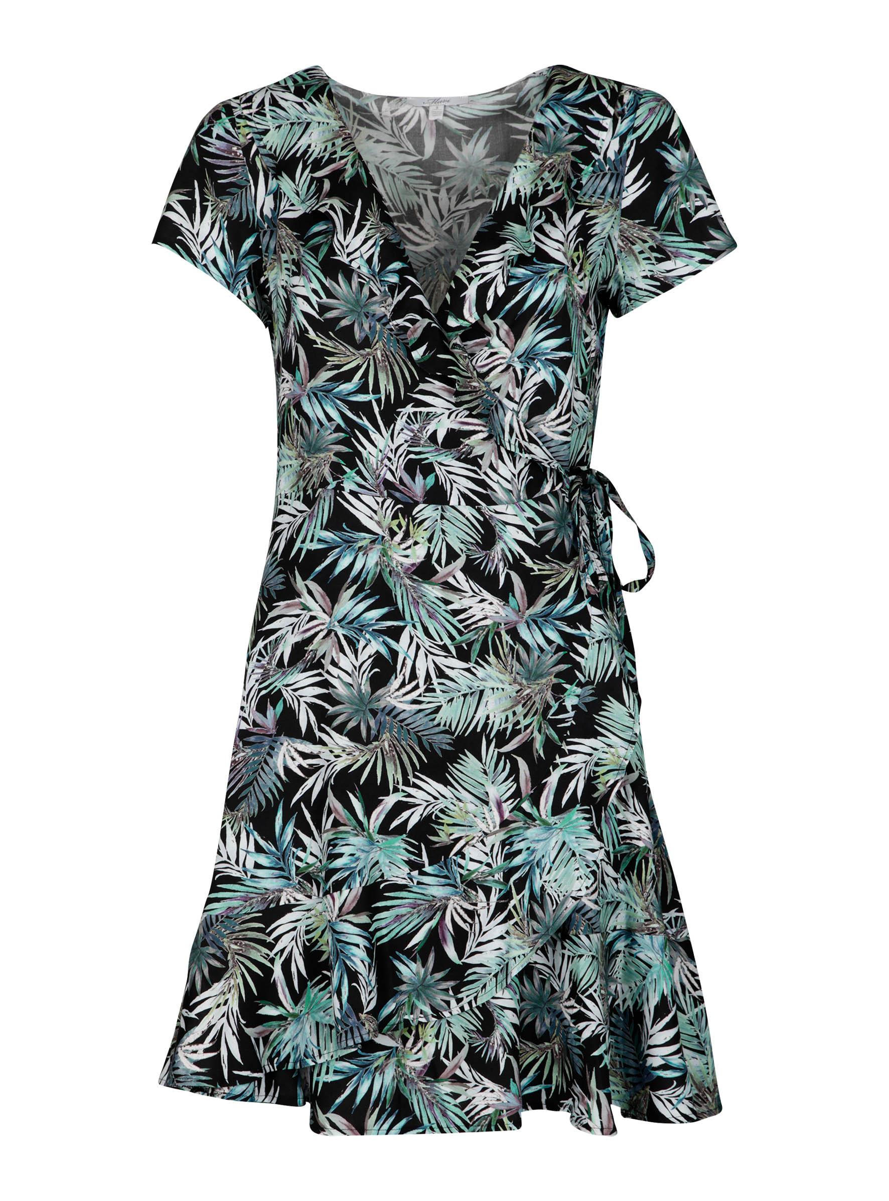 Modernes Wickelkleid in trendigem Palmen Print in der Mavi Jeans Kollektion