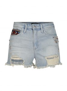 Jeansshorts Claire mit Ethno Details bei Mavi Jeans