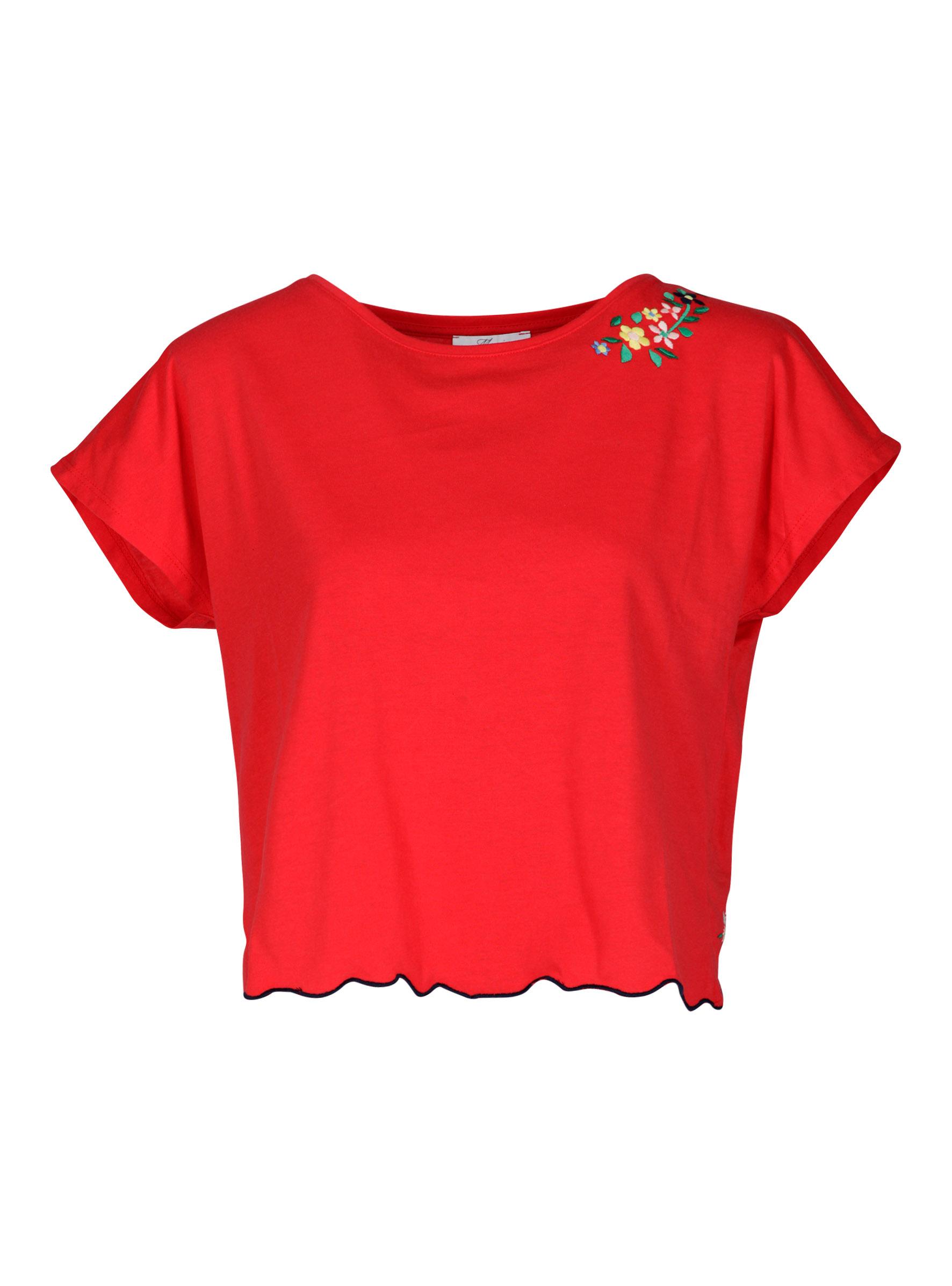 Trendiges T-Shirt mit Ausschnitt am Rücken mit spitzen Detail in der Young Fashion Kollektion bei Mavi