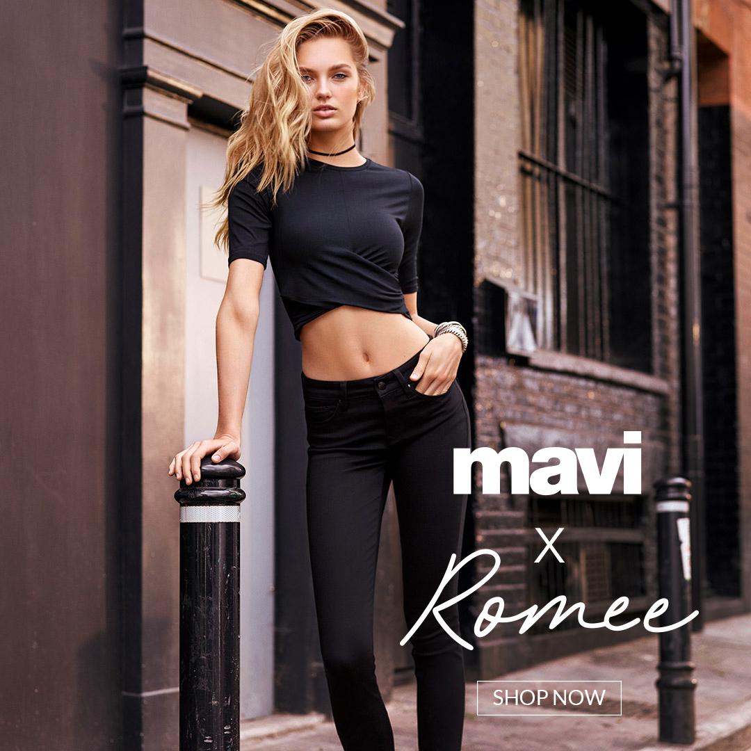 Super Mavi Jeans mit Romee Strijd präsentieren gemeinsam die neue Kollektion