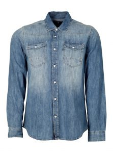 Jeanshemd in Used Waschung bei Mavi Jeans