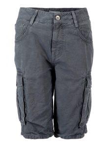 Cargo Shorts in grau und trendigen Taschen auf dem Bein bei Mavi Jeans