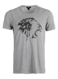 Graues T-Shirt mit Löwen Print jetzt in der Mavi Jeans Kollektion