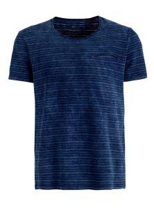 Baumwoll T-Shirt in blau gestreift jetzt in der Mavi Jeans Men Nascar