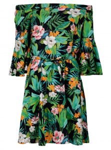 schulterfreies Sommerkleid mit floralem Muster in der neuen Mavi Jeans Kollektion