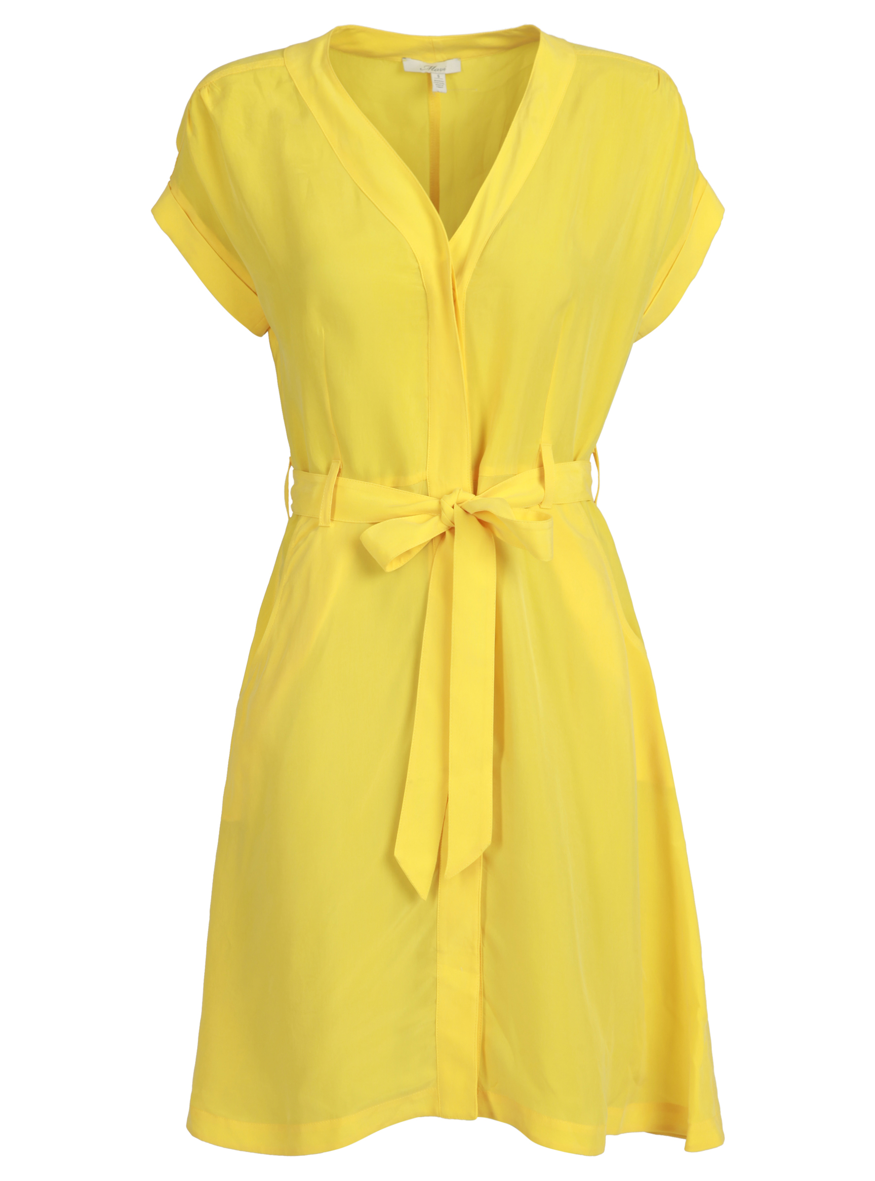 Zitronen gelbes Kleid aus Cupro in der Mavi Uptown Sommer Kollektion
