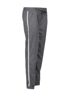 Schicke Hose in grau mit weißem Streifen an der Beinaußenseite jetzt im Sale bei Mavi Jeans
