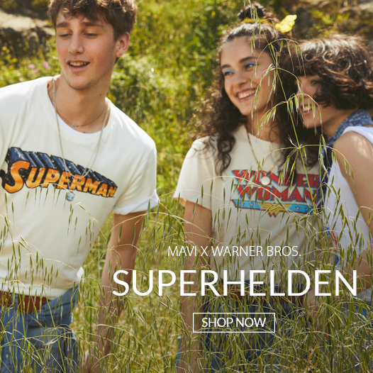 Superhelden Shirts aus der Mavi Warner Bros. Kollektion