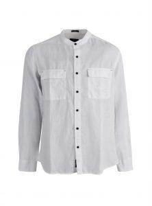 Leinen Hemd in weiß ohne Kragen jetzt im Sale bei Mavi Jeans