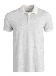 Klassisches Poloshirt in weiß meliert jetzt im Sale bei Mavi Jeans