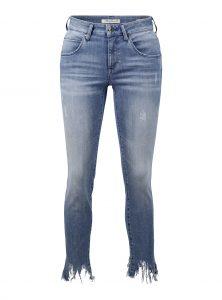 Adriana Ankle | Verkürzte Mid-Waist Super Skinny Jeans in blau jetzt im Sale bei Mavi Jeans