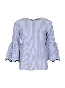Baumwoll Bluse mit Trompetenärmeln jetzt im Sale bei Mavi Jeans