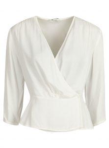 Weiße Bluse aus Viskose im Sale bei Mavi Jeans