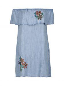 Off-Shoulder Kleid mit Blumendetail im Sale bei Mavi Jeans