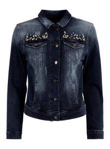 Jeans Jacke mit Steinen bestickt in der neuen Mavi Jeans Herbst Kollektion