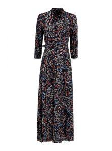 Mavi Jeans hat ein neues Langes Kleid aus Viskose mit Paisley Muster in der Herbst Kollektion