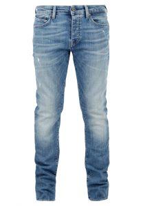 Yves Skinny Jeans in heller Waschung Skinny Leg Jeans in heller Waschung Enganliegendes Bein mit niedrigem Bund 5-Pocket Style und Reißverschluss Hellblaue Vintage-Waschung neu bei Mavi Men