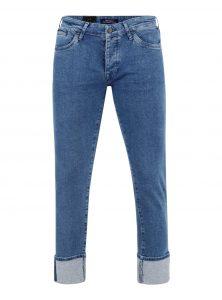 Yves | Skinny Leg Denim in blauer Retro-Waschung 90's Retro Denim mit hohem umgeschlagenem Saum Schmale Passform Verdeckte Knopfleiste und 5-Pocket Style neu bei Mavi Men neue Kollektion