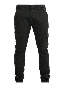 Yves Skinny Leg Cargo Hose in dunkelgrau Cargo Hose mit aufgesetzten Seitentaschen Twill-Material in dunkelgrau Schmal zulaufendes Bein neu bei Mavi Men