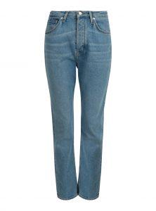 Mara | Gerade geschnittene High-Waist Jeans Lässige gerade geschnittene High-Waist Jeans mittelblau leicht ausgestelltes und verkürztes Bein neu bei Mavi Uptwon