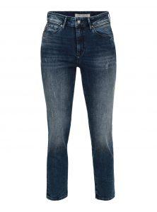 Daria | High Waist Straight Leg Jeans Straight Leg Jeans Dunkelblaue Waschung im Used-Look Reißverschluss-Detail an der Tasche neu bei Mavi Women neue Herbst/winter Kollektion