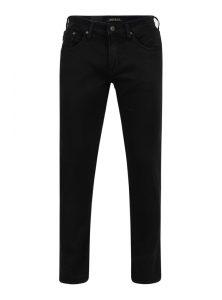 James | Super Skinny Jeans in schwarz gecoatet im Biker-Style mit enganliegendem Beinverlauf und mittlerer Leibhöhe mit 5-Pocket Style und Reißverschluss aus der neune Mavi Herren Kollektion