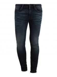 Leo | Low Waist Super Skinny Jeans in dunkelblauer Used-Waschung aus der neuen Mavi Herren Kollektion