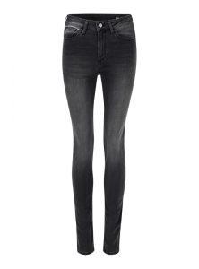 Sierra | High Waist Super Skinny Jeans in Dunkelgrau im Vintage Look, aus der Mavi Uptown SuperSoft Kollektion