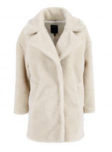 Verkürzter Mantel aus kuscheligem Teddy-Fell Breiter Reverskragen Seitentaschen in der neuen YF Kollektion