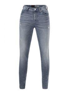 Leo | Super Skinny Denim in Blau-Grau mit sehr schmaler Passform, Reißverschluss und 5 Pocket-Style aus der neuen Mavi Herren Kollektion