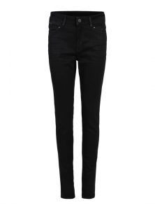 Sierra | Gecoatete Super Skinny Jeans in Schwarz mit Stretch, 5-Pocket Style mit verdecktem Reißverschluss aus der neuen Mavi Uptown Kollektion