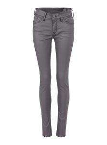 Adriana | Mid Waist Super Skinny Jeans aus grauem Jeather Stoff mit mittlerer Leibhöhe, Reißverschluss und 5-Pocket Style aus der neuen Mavi Young Fashion Kollektion
