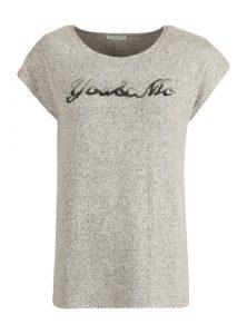 "Graues T-Shirt mit Pailetten Schriftzug ""You & Me"" aus der enuen Mavi Uptown Kollektion"