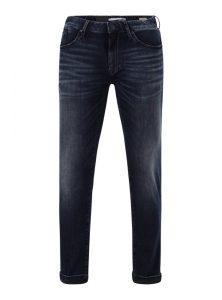 Slim Straight Leg Jeans in Used-Waschung mit 5 Pocket Style und Reißverschluss in Comfort Qualität aus der neuen Mavi Herren Kollektion
