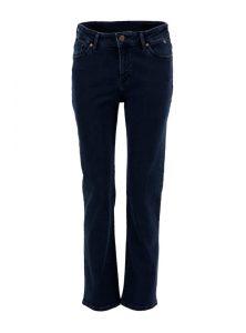 Verkürzte, gerade geschnittene High-Waist Jeans in dunkelblau aus der neuen Mavi Uptown Kollektion