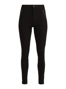 Schlichte High Waist Jeans in einer schwarzen, cleanen Waschung mit Reißverschlüssen vorne und Netzeinsatz hinten aus der enuen Mavi Young Fashion Kollektion