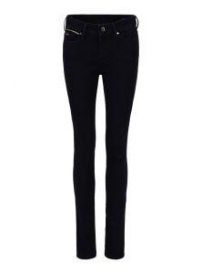 Mid Waist Super Skinny Jeans in dunkelblauer cleaner Waschung mit edlen Details aus goldenem Lurex aus der neuen Mavi Uptown Kollektion